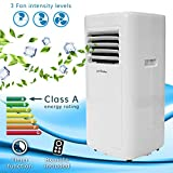 Jack Stonehouse Conditioning Unit Portable Air Conditioner, 5000BTU, Mobile Cooling, Dehumidifying, for Homes/Offices up to 8m2, Remote Control + Timer, White