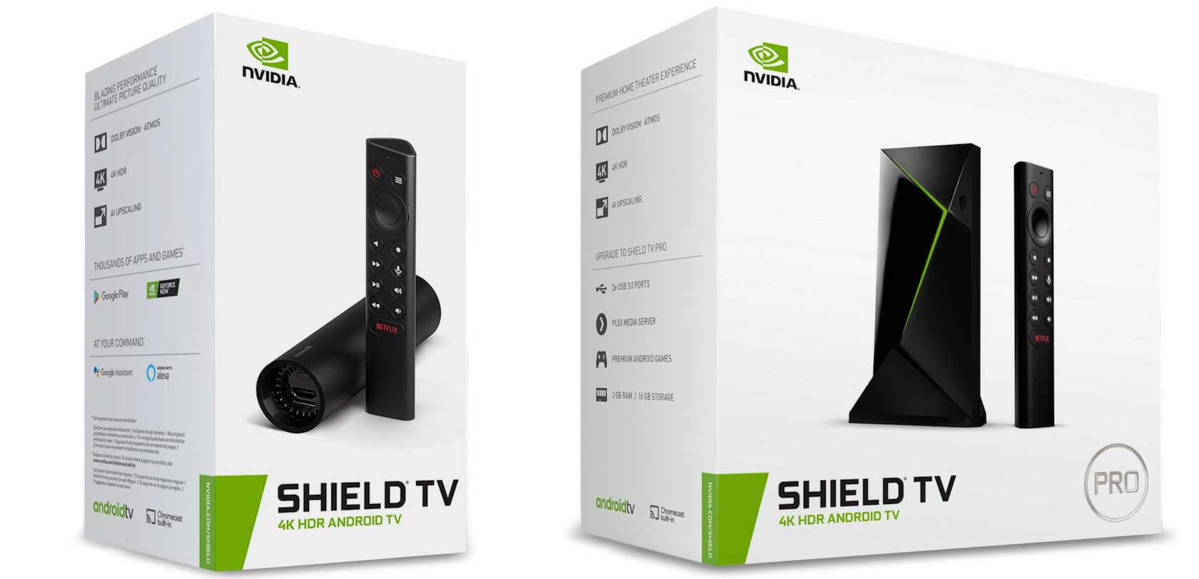 nvidia shield and shield pro in boxes